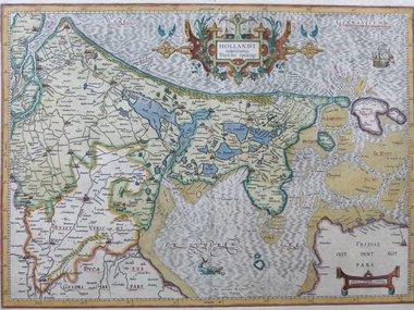 Gouldmaps Verkocht - Holland; G. Mercator / J. Hondius - Hollandt Comitatus Utrecht Episcop: - 1613