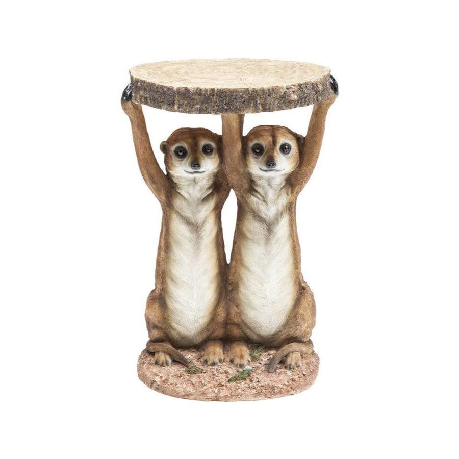 Kare Side Table Meerkat Sisters