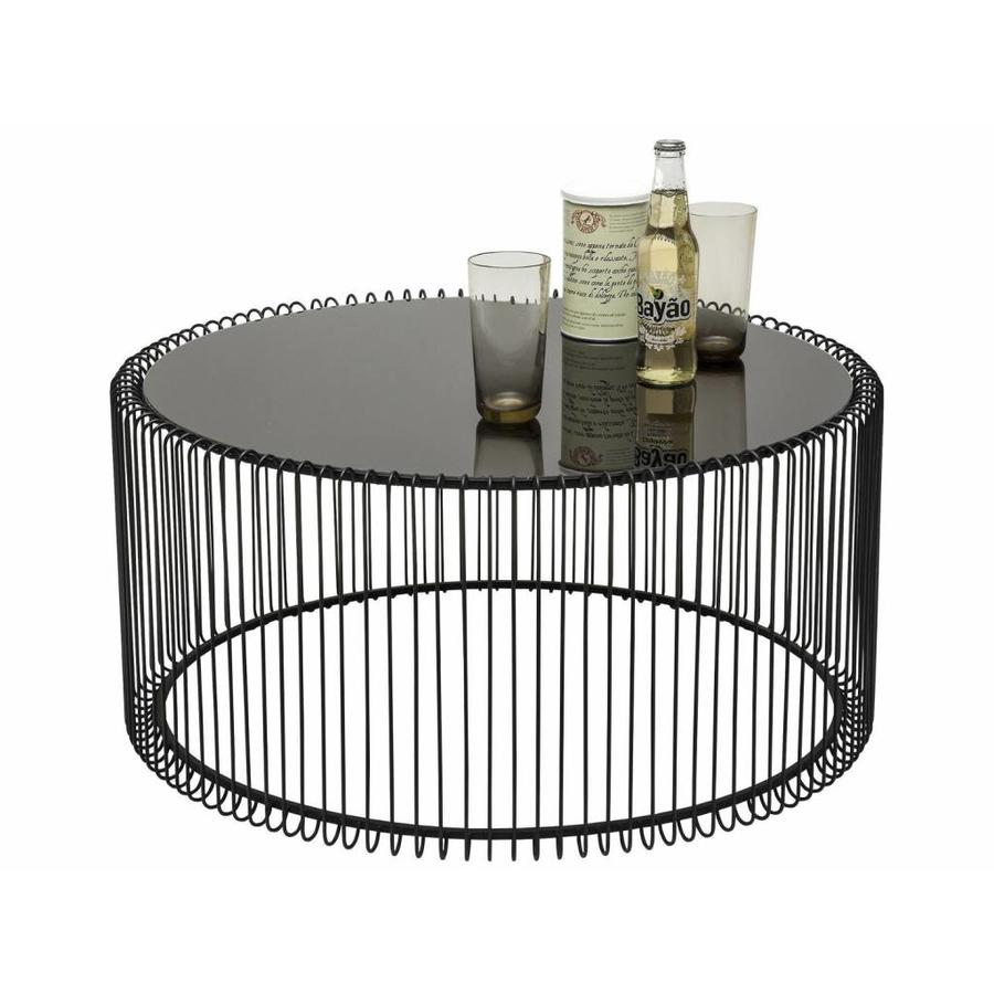 Kare Black Coffee Table: Coffee Table Wire Black, Large