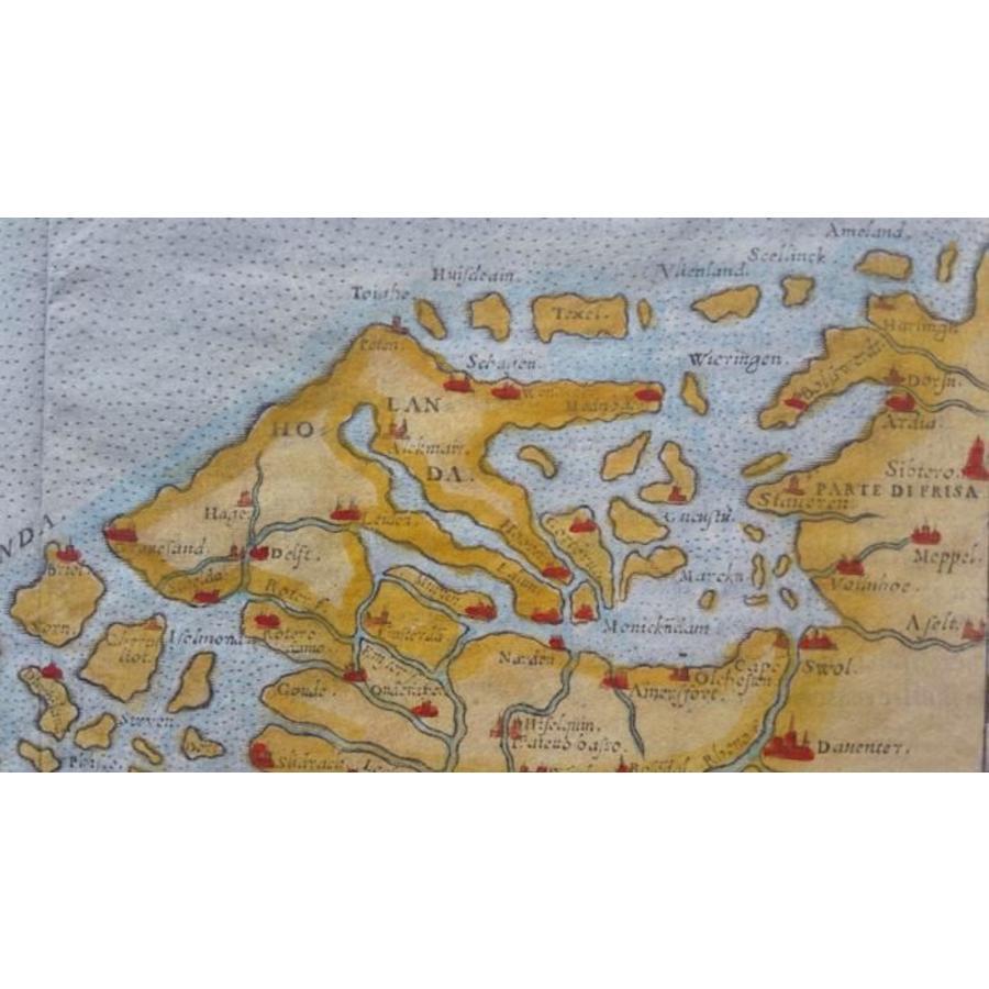 Gouldmaps De Nederlanden; G. Ruscelli - Flandra Brabantia et Holanda Nvova - 1574