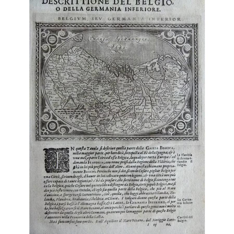 Gouldmaps XVII Provinciën; G. Porro / G. A. Magini - Belgium, sev Germania Inferior - 1598