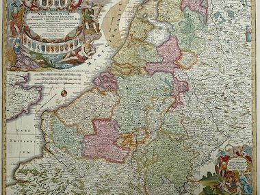 Gouldmaps XVII Provinciën; M. Seutter - XVII Provinciae Belgii sive Germeniae Inferioris. - 1745