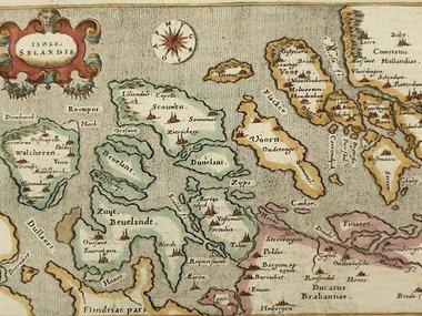 Gouldmaps Zeeland; G. Porro /  T. Porcacchi - Isole Selandie - 1576