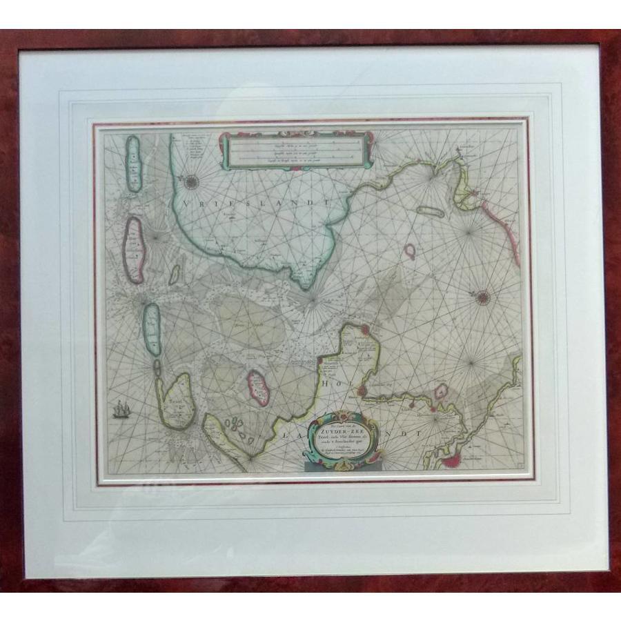 Gouldmaps Zeekaart Zuiderzee; H. Doncker -  Pas Caart van de Zuyder-Zee, Texel, ende Vlie-stroom, alsmede 't Amelander gat. - 1665