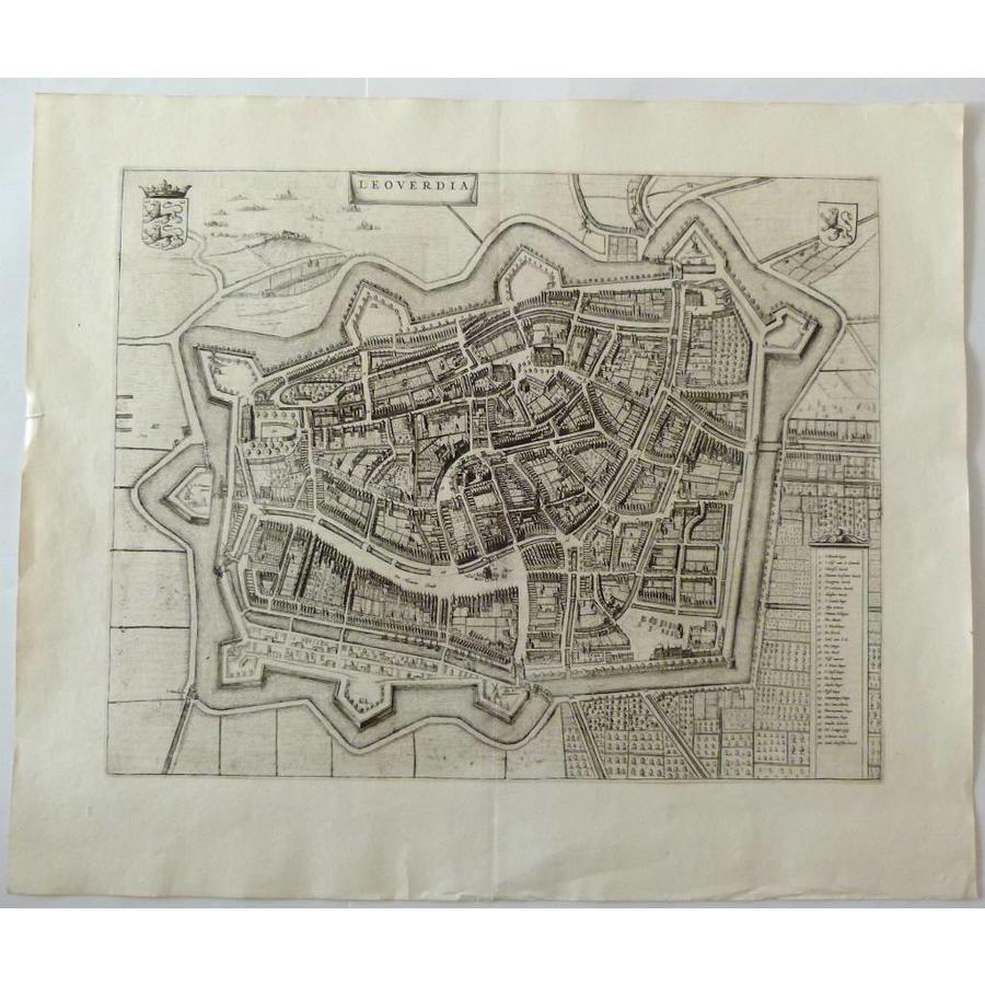 Gouldmaps Leeuwarden ;J. Blaeu - Leoverdia - 1649