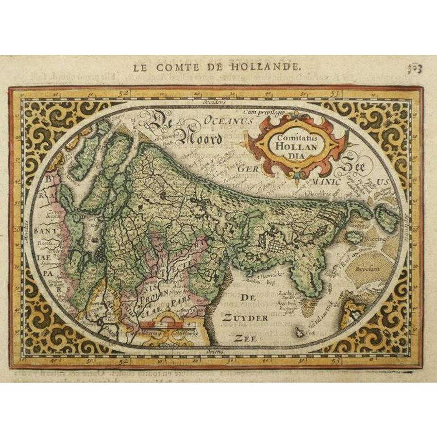 Gouldmaps Holland; J. Janssonius - Comitatus Hollandia - 1630