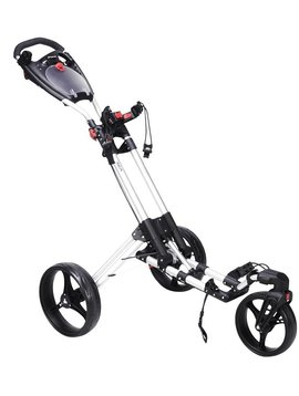 FastFold 360 Swivel 3-wiel trolley - Wit