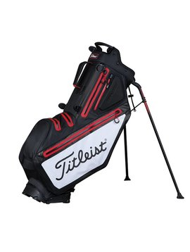 Titleist Players StaDry  5 Standbag - Zwart/Wit/Rood