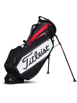 Titleist Staff Stand bag - Zwart/Wit/Rood