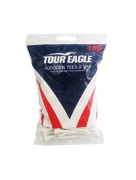 TourEagle Witte houten tees 100 stuks - 2.75inch