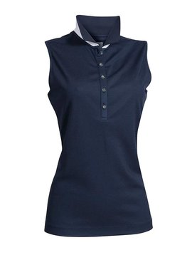BackTee Quick Dry Performance Sleeveless Polo - Navy