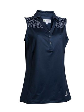 BackTee Soft Cool Sleeveless Polo - Navy