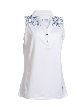 BackTee Soft Cool Sleeveless Polo - Wit