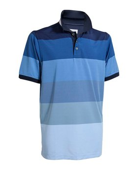 BackTee Quick Dry Striped Polo - Blauw