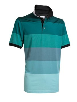 BackTee Quick Dry Striped Polo - Groen
