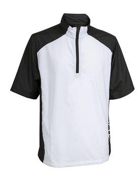 BackTee Windshirt korte mouw - Zwart/Wit
