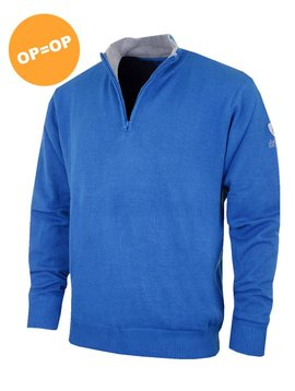Island Green 1/2 Zip Lined Golf Trui - Marine