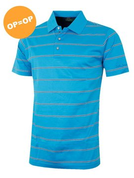 Bobby Jones Frame Stripe Polo - Licht Blauw