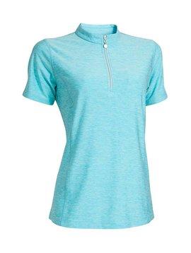 BackTee Melange Polo - Turquoise