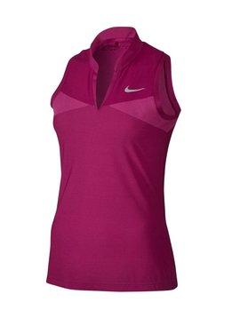 Nike Swing Knit Sleeveless Polo - Fuchsia