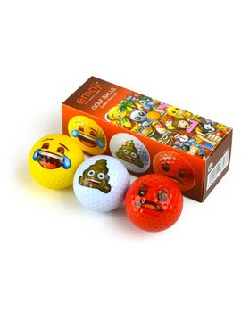 Emoji Novelty pack Lachen- 3 golfballen