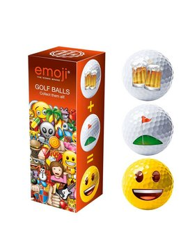 Emoji Novelty pack Beer/Happy/Golf - 3 golfballen