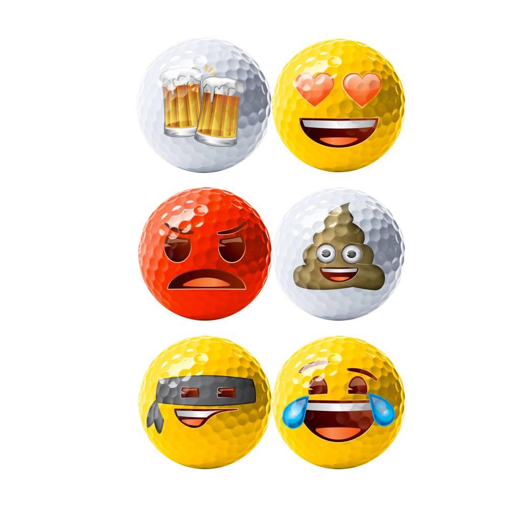 Emoji Novelty pack - 6 golfballen