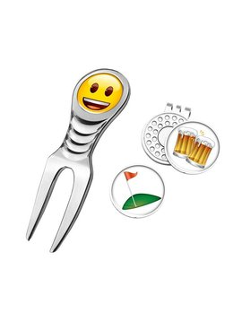 Emoji Divot Tool en marker - Beer and golf