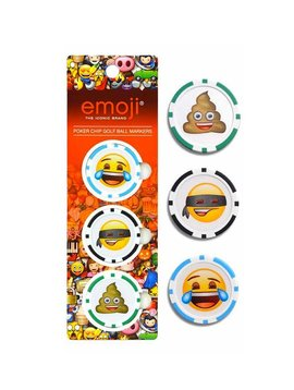 Emoji Poker Chip Golf Ball Marker - 3 Stuks