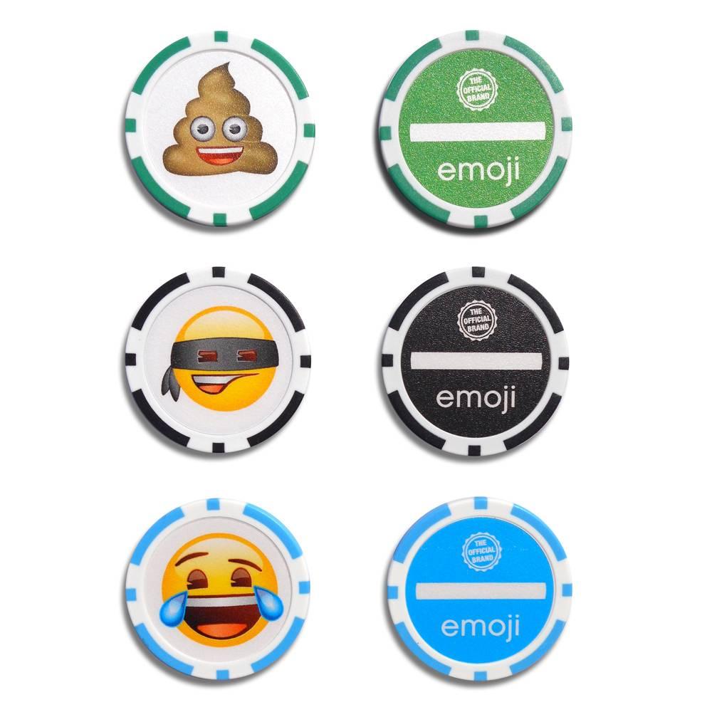 Emoji Poker Chip Golf Ball Marker - 3 Stuks