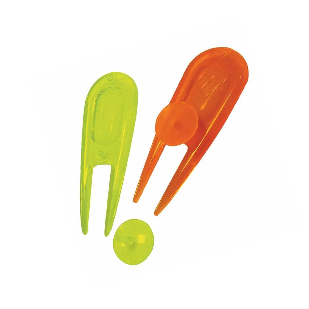 TourEagle Neon PitchFork met ball marker - 2 stuks