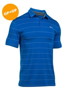 Under Armour Heat Gear Playoff Polo - Blue Marker