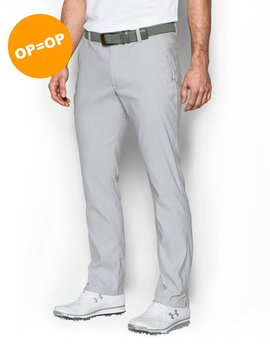 Under Armour Matchplay Patter Tapered Pant - Wit/Grijs
