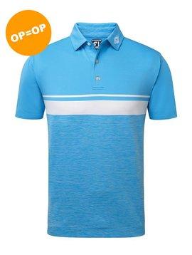FootJoy Lisle Colour Block Polo - Blauw/Wit