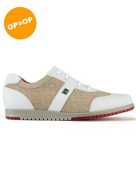 FootJoy Dames Casual Collection - Wit/Beige
