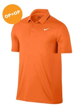 Nike Heren Dry Polo Solid - Oranje