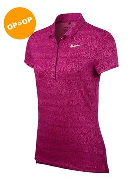 Nike Dames PRCSN Polo - Fuchsia