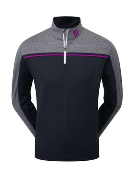 FootJoy Chill Out Sweater - Zwart/Grijs/Mulberry