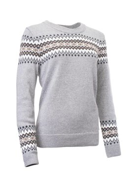 Abacus Dames Carola Knitted Pullover - Licht Grijs