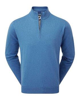 FootJoy Lambswool 1/2 Zip Lined Sweater - Cadet Blauw