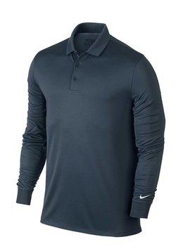 Nike Dry Long Sleeve Polo - Donker Blauw