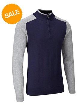 Stuburt Vapour Casual Half Zip Lined Sweater - Blauw/Grijs
