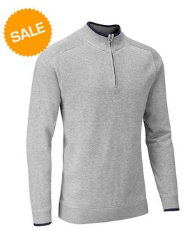 Stuburt Vapour Casual Half Zip Lined Sweater - Grijs
