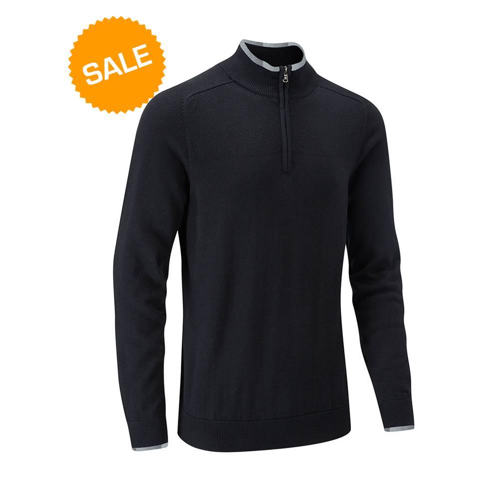 Stuburt Vapour Casual Half Zip Lined Sweater - Zwart