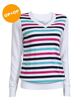 BackTee Striped Pullover - Wit