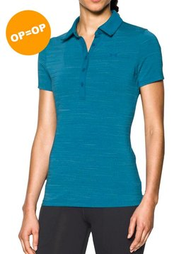 Under Armour Heat Gear Zinger SS Polo - Aqua