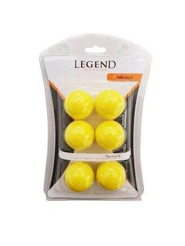 Legend Foam oefen ballen - 6 stuks - geel