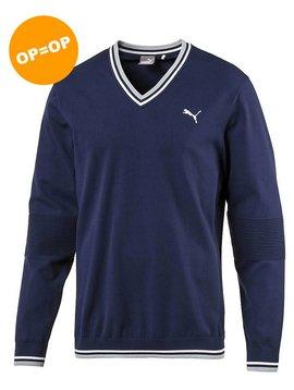 Puma Evoknit V-neck sweater - Peacoat