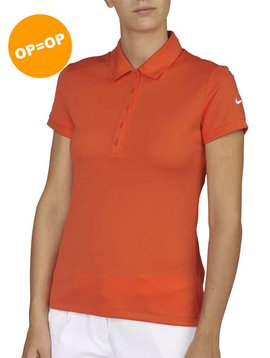Nike Dames Dry-Fit Victory Polo - Oranje