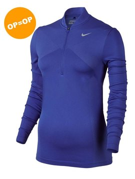 Nike Zonal Cooling Dry Knit L/S Polo - Blauw